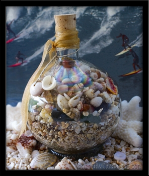 Chamborg Beach in a Bottle Hawaiian Seashells
