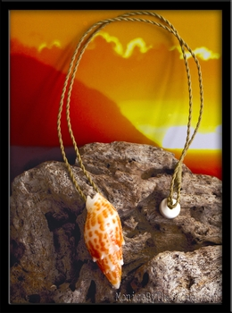 Red Hawaiian Miter Shell Necklace