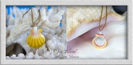 Memorial Sunrise Shell with a Loved One's Ashes & Mother of Pearl Sealing