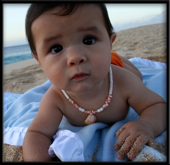 Kids Sunrise Shell Puka Shell Necklace