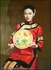 Chinese Oil Painting - Maiden Holding Fan #35