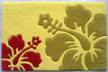 Hibiscus Area Rug - Yellow