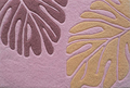 Monstera Leaf Area Rug - Purple