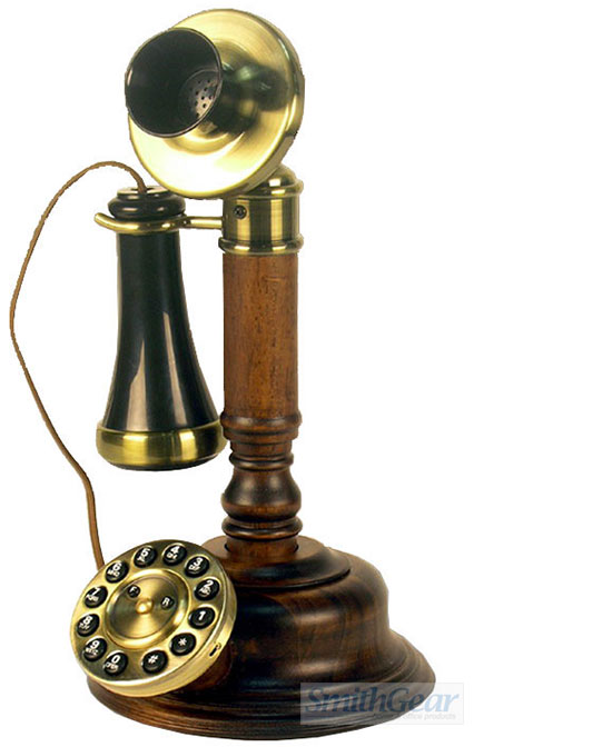 1920 Wood Candlestick Telephone Reproduction