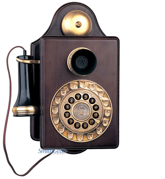 1903 Antique Wood Wall Telephone Reproduction