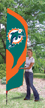 Miami Dolphins Tall Team Flag Kit