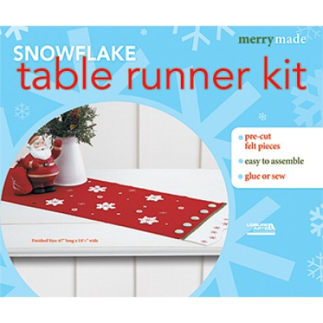 at Table Kits quilt Christmas Craft Runner Kits table runner Weekend    christmas Felt kits Snowflake Kit