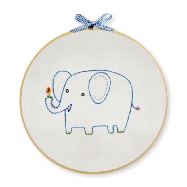 Elephant Embroidery Kit For Beginners Hand Embroidery At