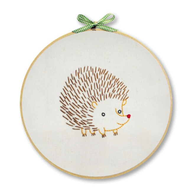 Hedgehog Embroidery Kit For Beginners  Hand Embroidery At