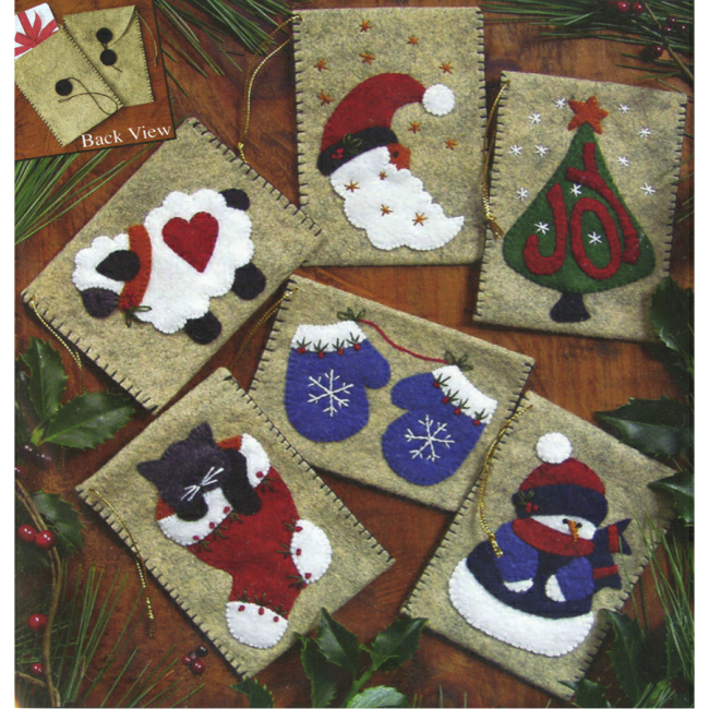 Gift Bag Felt Christmas Ornaments Kit Felt Applique