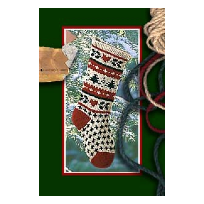 Knit Pattern For Christmas Stocking Kit : Evergreen Christmas Stocking Knitting Kit - Pattern & Yarn ...