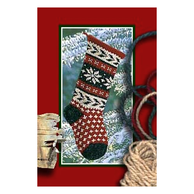Holly Christmas Stocking Knitting Kit - Pattern & Yarn Knit Kits at Weeke...
