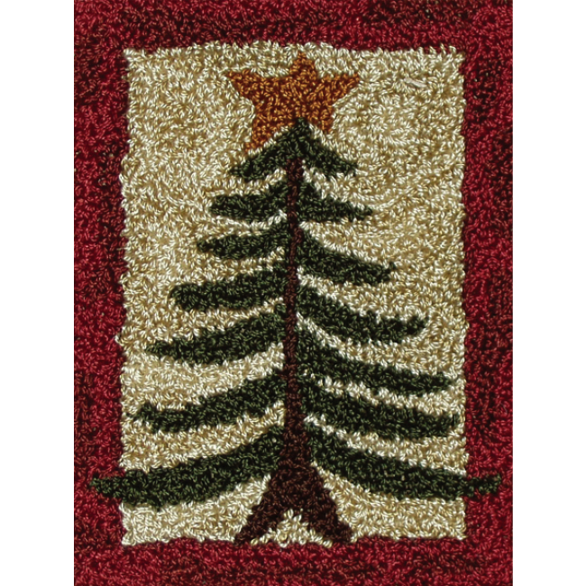 Pine Tree Punch Needle Kit For Beginners Holiday