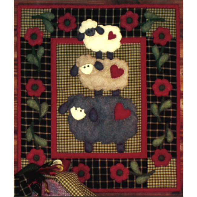Wooly Sheep Wall Hanging Quilt Kit Beginner Applique