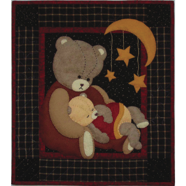Baby Bear Wall Quilt Kit For Beginners Applique Quilt
