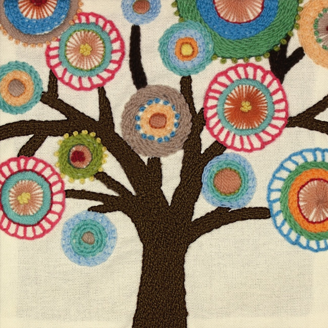 Tree Crewel Embroidery Kit Easy Hand Embroidery Kits At