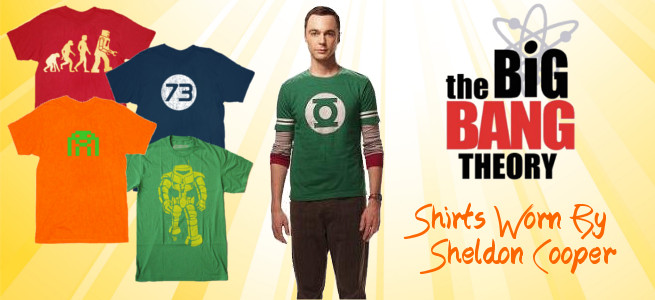 Big Bang Theory shirts and merchandise
