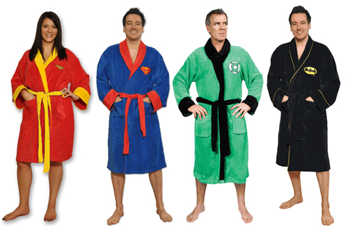 Superhero Comic Adult Bath Robe