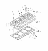 HEAD GASKET FOR 4510 MAHINDRA TRACTOR