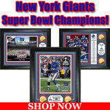 NY Giants Super Bowl XLVI and XLII Champions Framed Pictures For Sale