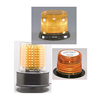 LED 625 Series High Power Warning Lights, Flange Base - Red