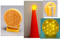 Battery-Operated Directional Warning Light - Green