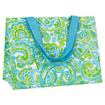 Blue Paisley Monogrammed Eco Friendly Tote