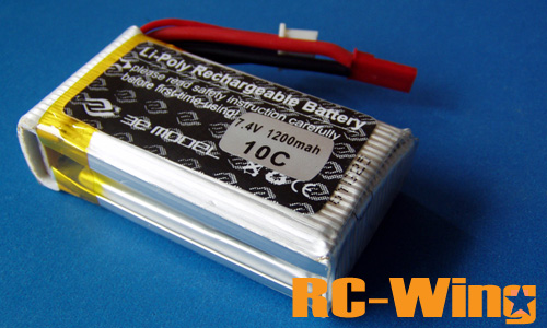 3E 10C 7.4V 1200mAH Li-poly Rechargeable Battery