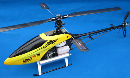 Aeolus 50(600 Size) CF Nitro RC Helicopter Kit(Body Only)
