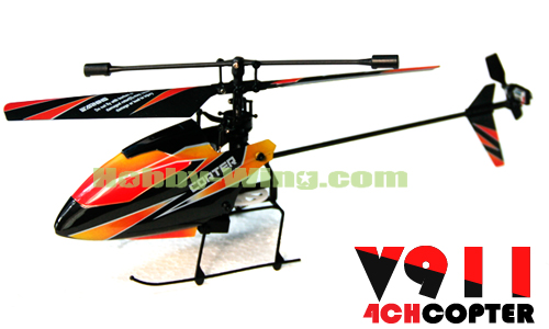 Free Shipping! V911 Single Blade 4CH 2.4G RC Helicopter