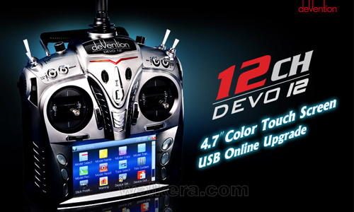 Walkera Devention 'Devo12'12-CH Radio Set(Upgrade to Devo12S) W/RX1202 Receiver