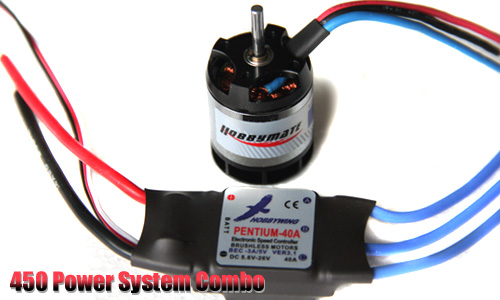 450 Power system Combo(good for 450 size helis)