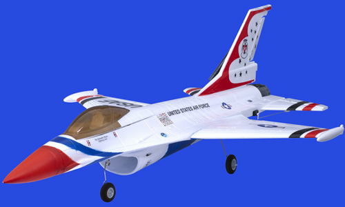Famous F16(White) 70mm Ducted Fan RC Airplanes RTF