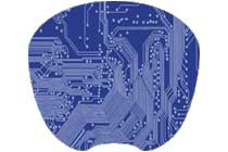 Blue Circuit Picture Mouse Pad - Click to enlarge