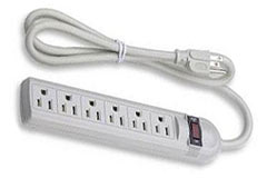 6-Outlet Power Surge Strip - Click to enlarge