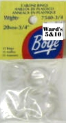 Wrights Boye - Cabone Rings - 3/4""