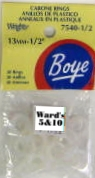 Wrights Boye - Cabone Rings - 1/2""