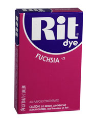 Rit - 1-1/8 oz. Powder Fabric Dye - Fuchsia