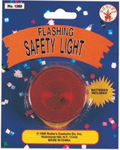 Rubies - Halloween Reflective  Blinking Safety Light