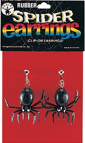 Rubies - Clip-On Rubber Spider Earrings
