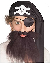 Rubies - Pirate Beard And Mustache Set