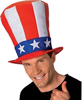 Rubies - Uncle Sam Stovepipe Hat