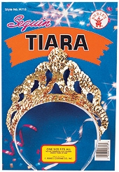 Rubies - Gold Or Silver Sequin Tiara
