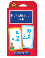 School Zone - Multiplication 0-12 Flash Cards