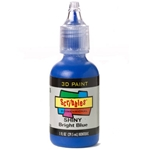 Scribbles - Dimensional Fabric Paint - SHINY BRIGHT BLUE