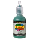 Scribbles - Dimensional Fabric Paint - SHINY EVERGREEN