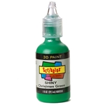 Scribbles - Dimensional Fabric Paint - SHINY XMAS GREEN