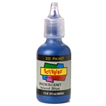 Scribbles - Dimensional Fabric Paint - IRIDESCENT ISLAND BLUE