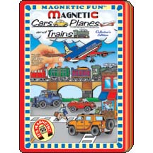 Magnetic Fun Tin - Cars, Planes & Trains