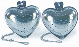 Fox Run -  Heart Shaped 2 PK Stainless Steel Tea Infusers